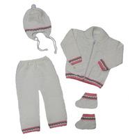 """МоёДитё"" костюм из 4-х предметов ""Рыбка"" белый с розовым ""Лотос"""