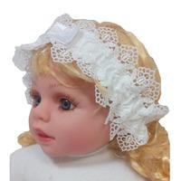 """МоёДитё"" повязка на голову для девочек белая Т197 ""Вербена"""