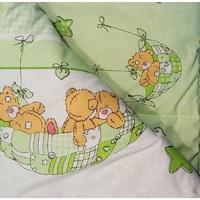 """""""МоёДитё"""" одеяло на овчине салатовое А133 """"Эрика"""""""