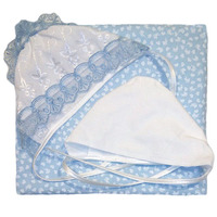 """""""МоёДитё"""" комплект для новорождённого из 8 предметов голубой 182 """"Вербена"""""""