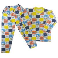 """МоёДитё"" пижама футер с начёсом ""Каталея"" жёлтая ""Клетка"" М550"
