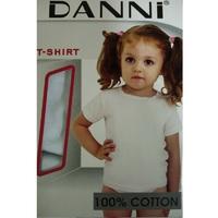 DANNI футболка детская белая на девочек