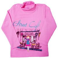 Водолазка на девочку хлопок 100% розовая