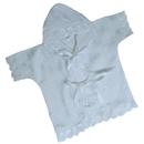 """""""МоёДитё"""" крестильная рубашечка с капюшоном белая КР-13 """"Кассия"""""""