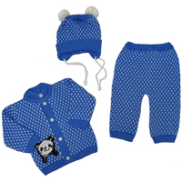 """МоёДитё"" костюм на мальчика из 3-х предметов ""Снежок"" синий ""Лотос"""