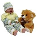 """""""МоёДитё"""" костюм на мальчика """"Февраль"""" из 3-х предметов жёлтый """"Лотос"""""""