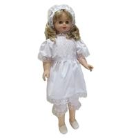 """""""МоёДитё"""" крестильный набор для девочек из 3 предметов белый Т005 """"Вербена"""""""