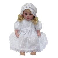 """""""МоёДитё"""" крестильный набор для девочек из 3 предметов белый Т008 """"Вербена"""""""