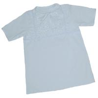 """""""МоёДитё"""" крестильная рубашечка для мальчика белая Т007 """"Вербена"""""""