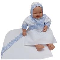 """""""МоёДитё"""" крестильный набор на мальчика Т015 белый с голубым """"Вербена"""""""