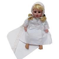 """""""МоёДитё"""" крестильный набор на девочку Т004 белый с розовым """"Вербена"""""""