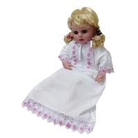 """""""МоёДитё"""" рубашечка крестильная на девочку """"Кассия"""" белая с розовым КР-11"""