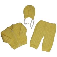 """""""МоёДитё"""" костюм из 3-х предметов двойной ажур """"Лея"""" жёлтый """"Лотос"""""""