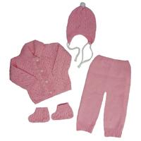 "МоёДитё" костюм из 4-х предметов "Тома" нежно-розовый "Лотос"
