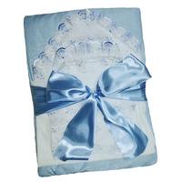"""МоёДитё"" комплект 6 предметов для новорождённого голубой 120ТС-2Ш (зима) ""Вербена"""