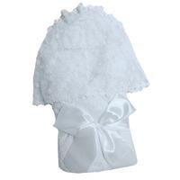 """""""МоёДитё"""" комплект нарядный для новорождённого из 5 предметов белый 134-2Ш (зима) """"Вербена"""""""