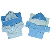 """""""МоёДитё"""" комплект нарядный на выписку 6 предметов Т185 голубой """"Вербена"""""""
