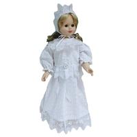 """""""МоёДитё"""" набор нарядный крестильный на девочку Т020-Г белый """"Вербена"""""""
