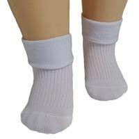 RuSocks носки детские однотонные с отворотом белые Д-107