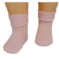 RuSocks носки детские однотонные с отворотом розовые Д-107