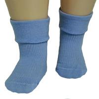 RuSocks носки детские однотонные с отворотом голубые Д-107