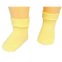 RuSocks носки детские однотонные с отворотом лимон Д-107