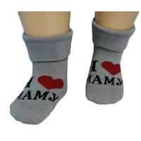 """RuSocks носочки детские """"Я люблю..."""" Д-106 серые"""