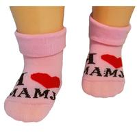 "RuSocks носочки детские ""Я люблю..."" Д-106 розовые"