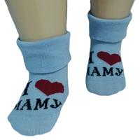 """RuSocks носочки детские """"Я люблю..."""" Д-106 голубые"""
