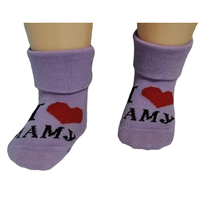 """RuSocks носочки детские """"Я люблю..."""" Д-106 сиреневые"""