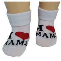 """RuSocks носки детские белые """"Я Люблю..."""" Д-106"""