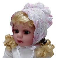 """""""МоёДитё"""" чепчик нарядный шитьё белый с розовым Т190 """"Вербена"""""""