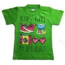 Футболка для девочек зелёная