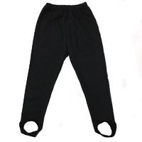 """""""МоёДитё"""" брюки с начёсом со штрипками чёрные """"Лилия """" БФ005"""