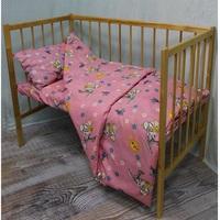"""""""МоёДитё"""" комплект постельного белья из бязи розовый Т027 """"Вербена"""""""