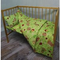 """""""МоёДитё"""" комплект постельного белья из бязи зелёный Т027 """"Вербена"""""""
