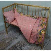 """""""МоёДитё"""" комплект постельного белья из бязи розовый Т025 """"Вербена"""""""