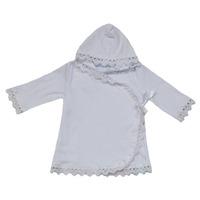 """""""МоёДитё"""" рубашечка крестильная с капюшоном белая """"Вербена"""" Т048"""
