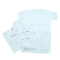 """""""МоёДитё"""" набор крестильный на девочку из 3 предметов """"Кассия"""" белый  КР-08"""