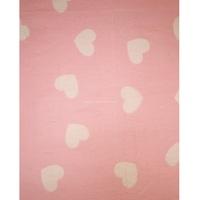 """Ермошка"" одеяло байковое жаккардовое розовое ""Премиум"" сердечки"