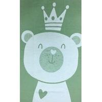 """""""Ермошка"""" одеяло байковое жаккардовое фисташковое """"Премиум"""" мишка"""